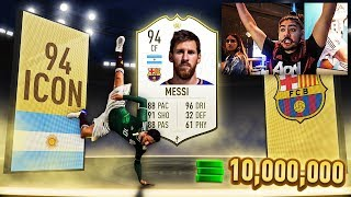 FIFA 19 PACK OPENING!! MESSI AND ICON IN A PACK!!