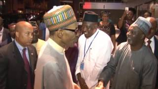President Muhammadu Buhari Arrives New York