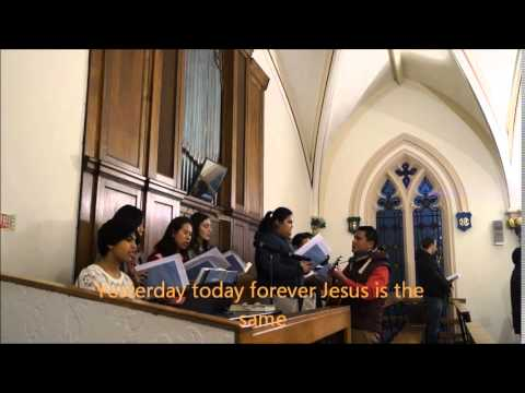 Yesterday Today Forever Jesus is the Same with lyrics