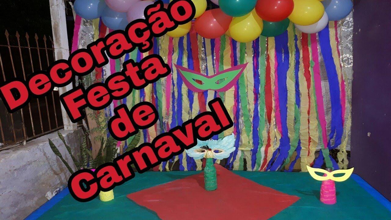 Decoração Para Festa De Carnaval Simples E Barata Youtube