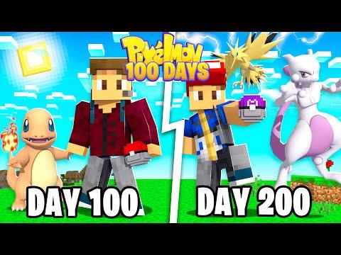 I SPENT 200 DAYS IN MINECRAFT PIXELMON! (Pokemon In Minecraft)