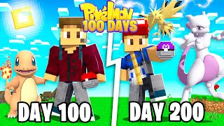 I SPENT 200 DAYS IN MINECRAFT PIXELMON! (Pokemon In Minecraft)