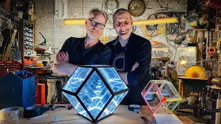 Adam Savage's One Day Builds: Rhombic Dodecahedron with Matt Parker!