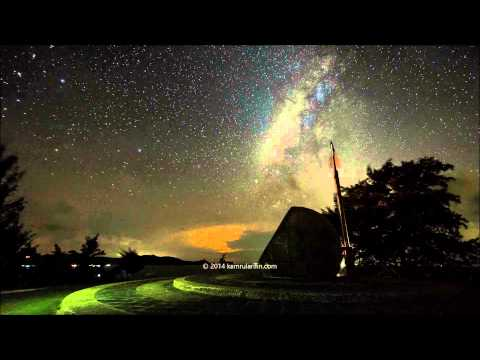 Milky Way Over The  Globe Monument At Tip Of Borneo