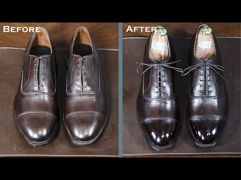 sale retailer 8a2b2 4578c How To Shine A New Pair of Allen Edmonds? | Shoeshine Tutorial