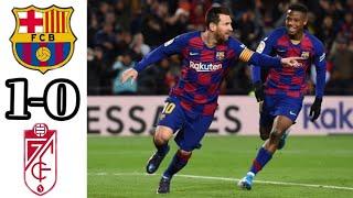 Fc Barcelona vs Granada CF 1-0 | All goals and highlights
