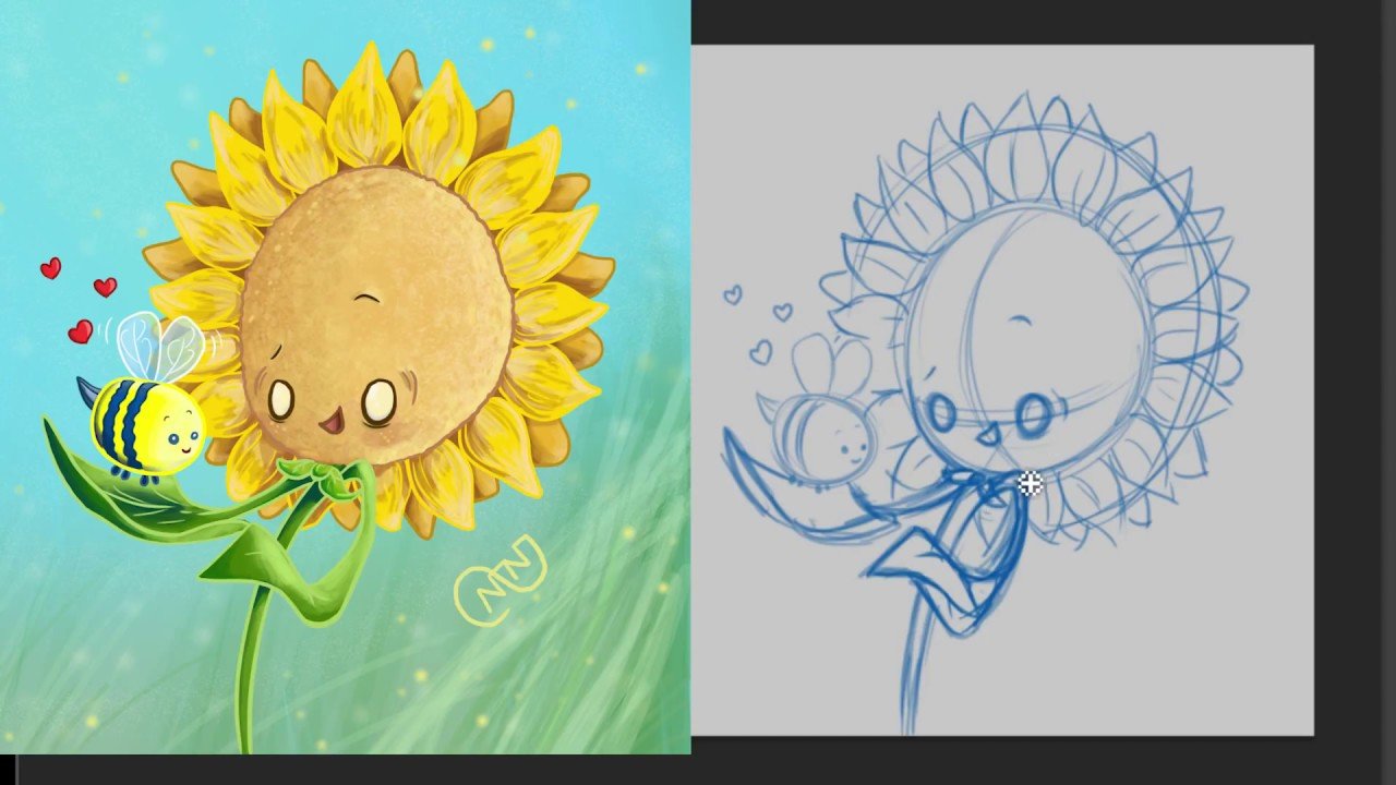 how to draw a sunflower youtube
