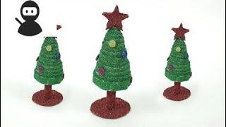 Newspaper Christmas Craft for Kids - DIY Christmas Tree New 2018