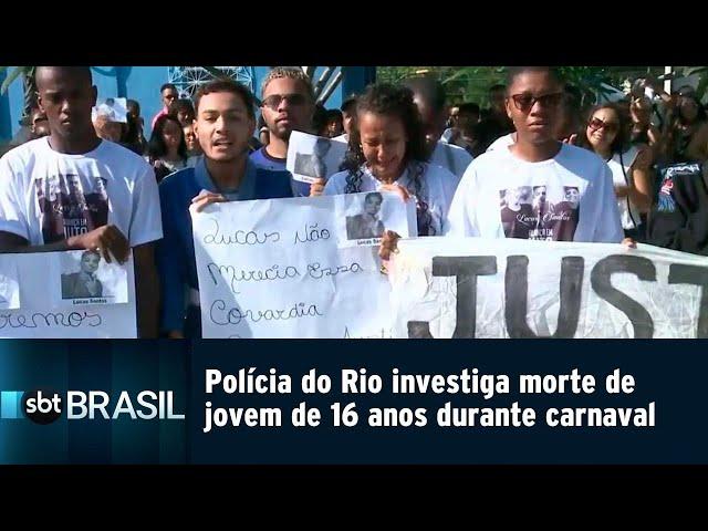 Polícia do Rio investiga morte de jovem de 16 anos durante carnaval | SBT Brasil (06/03/19)