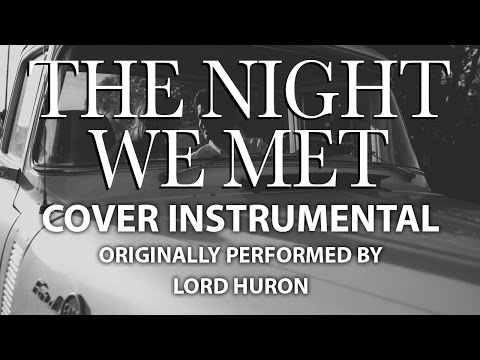 The Night We Met (Cover Instrumental) [In the Style of Lord Huron]