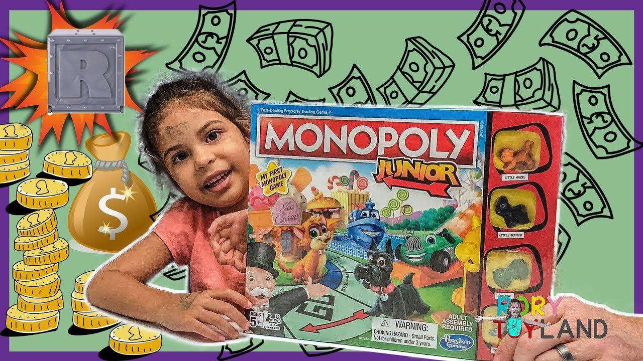 My First Monopoly Game Kid Friendly Board Games For Beginners