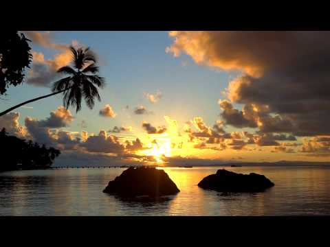Relaxing Sunset Nature Scene with calming classical piano music South Pacific Vlog