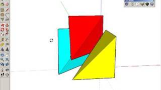 Dividing a Cube into Three Pyramids in Google SketchUp
