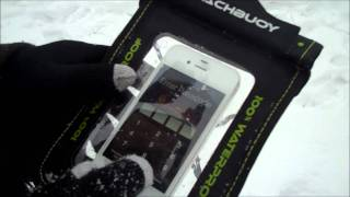 100% Waterproof Phone Case - Proporta BeachBuoy and Touch Screen Gloves Thumbnail