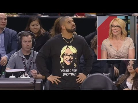 Drake Reveals Crush on ESPN Reporter By Wearing Sweater Of Her Face