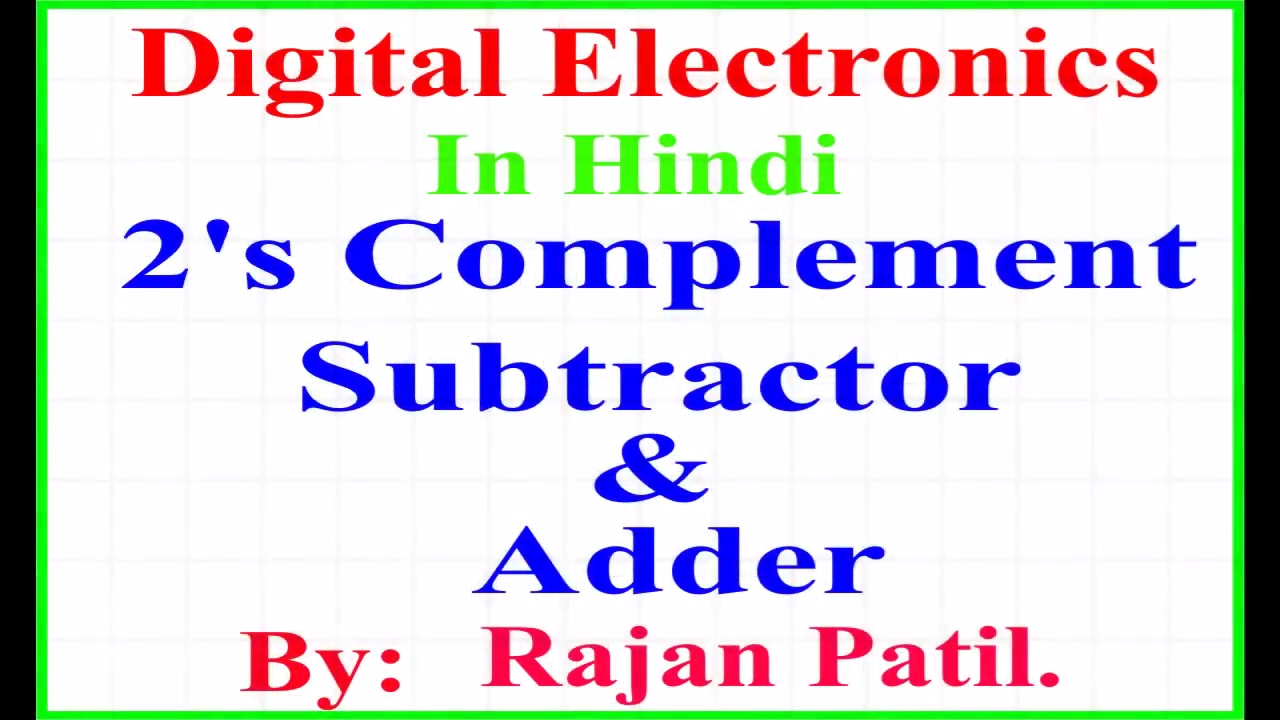 2s Complement Subtractor And Adder Youtube 2 S Circuit Diagram