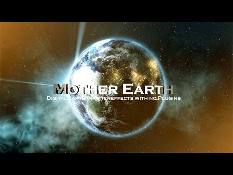 TUTORIAL || Aftereffects Photoreal Earth | 3D looking Particle style Nebular Space Stars