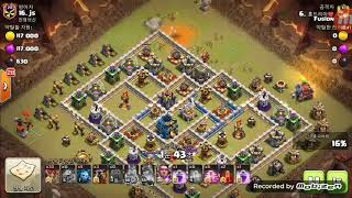 Clash of Clans War Replay | TH12 | 3La + 34loon + Wrecker(LaLoon) | COC 2018 | Fusion
