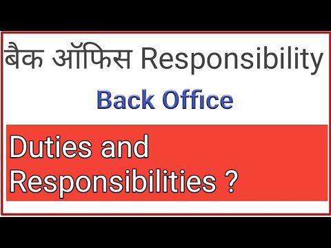 Forex back office responsibilities
