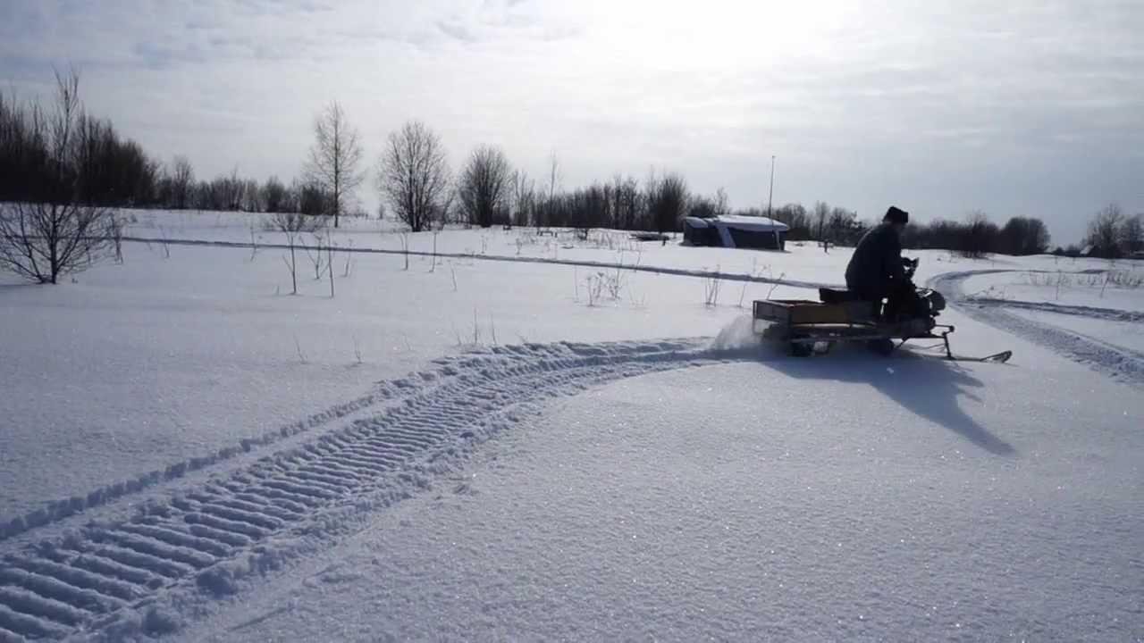 Самодельный снегоход и его гусеница 4