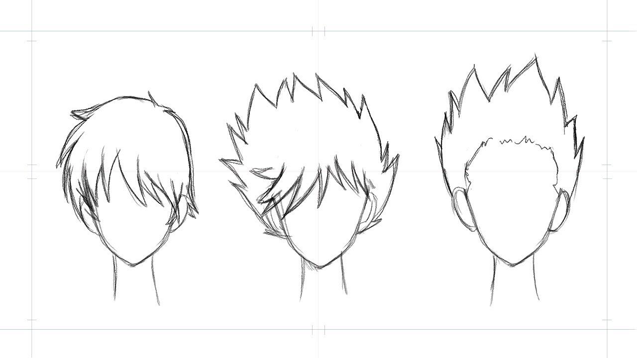 draw manga hair 3