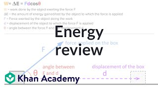 AP Physics 1 review of Energy and Work | Physics | Khan Academy