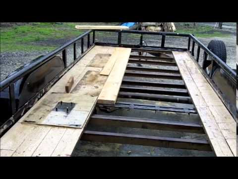 Trailer floor repair 5 2011 youtube for 6x12 wood floor trailer