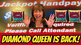 Jackpot Handpay! Diamond Queen is back!