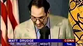 Matt Drudge Creator of Drudge Report Press Conference - (1 of 4)