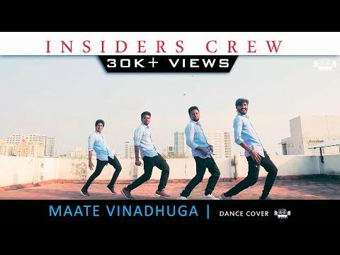 Maate Vinadhuga  | Vijay Devarakonda | Sid Sriram | Dance Cover | INSIDERS Crew