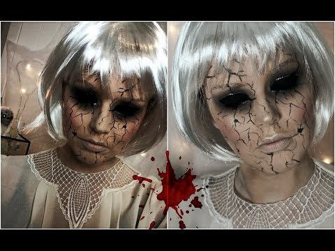 Halloween Makeup Tutorial  Creepy Cracked Face Doll