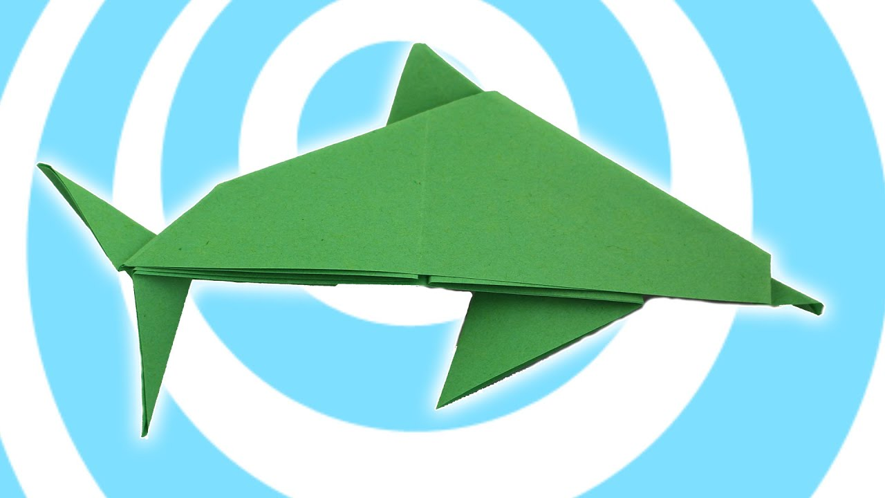 youtube how to make an origami dolphin