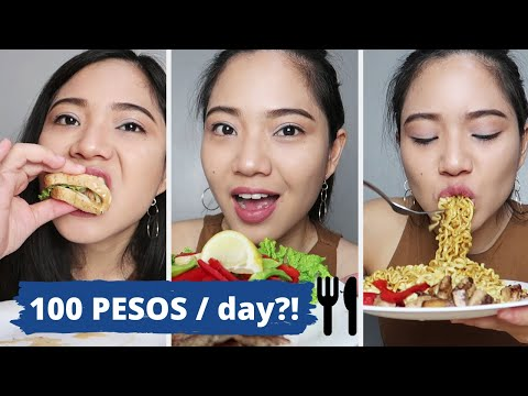 What I Eat In A Day ♥ Healthy Eating On A Budget: 100 Pesos Isang Araw! (Challenge!!!)