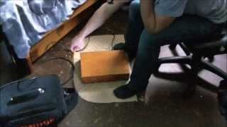 Testing Acoustic Electric Wooden Stompbox With Piezo Pickup