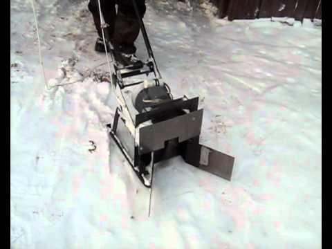Снегоуборщик своими руками электрический видео