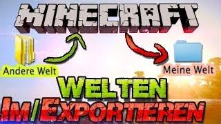 Minecraft 1.11.2 WELTEN (saves) EINFÜGEN / Weitergeben! - German Deutsch Mac + Windows [Tutorial]