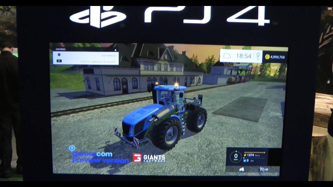 landwirtschafts simulator 15 gamescom playstation 4. Black Bedroom Furniture Sets. Home Design Ideas