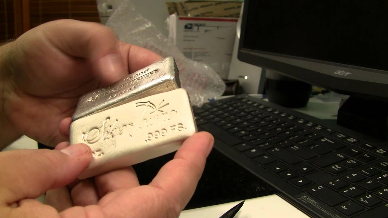 Silver Unboxing Silvertowne Poured 10oz Bar Youtube