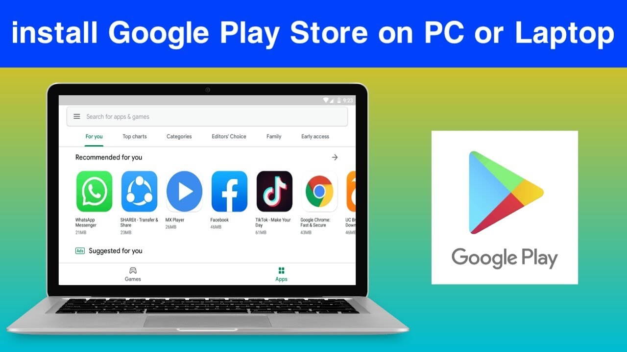 Download How to install Google Play Store on PC or Laptop || Install Play Store Apps on Laptop