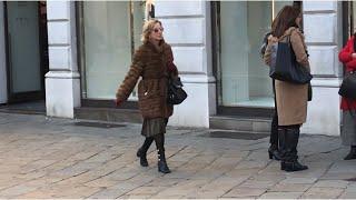 Как одеваются в Италии зимой, что предлагают носить .. витрины магазинов ?