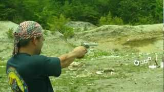 poo guru shooting my ruger vaquero 44 magnum revolver