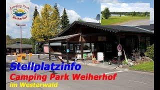 Stellplatzinfo -Campingplatz Weiherhof im Westerwald