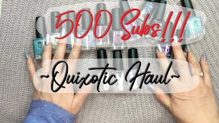 Download 500 Subs: Quixotic Polish Sale Haul!