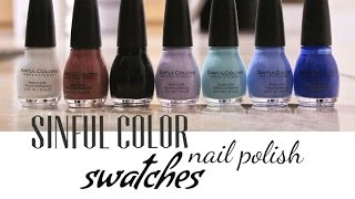 Sinful Color Nail Polish Swatches