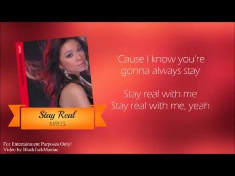 April - Stay Real (Lyric Video)