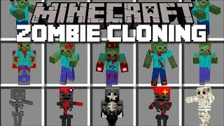 Minecraft ZOMBIE SKELETON CLONING MOD / FIGHT EVIL CLONED ZOMBIES AND SKELETONS!! Minecraft