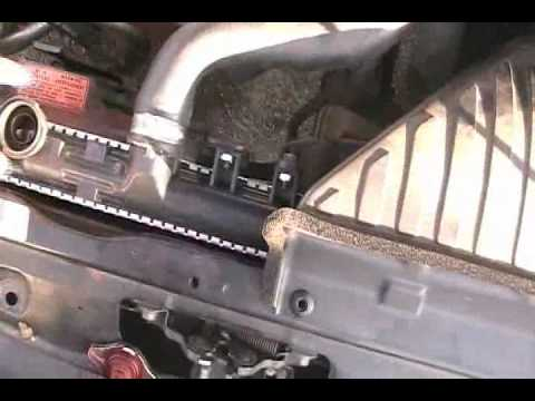 remove a radiator 2.4l Mitsubishi Eclipse.mp4 - YouTube
