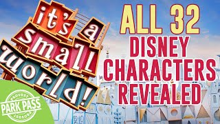 All 32 Disney Characters revealed in it's a small world