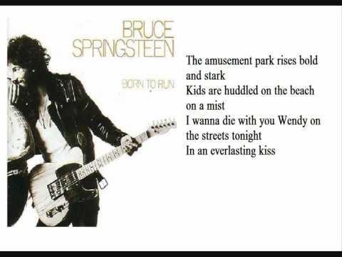 Bruce Springsteen Born to Run lyrics