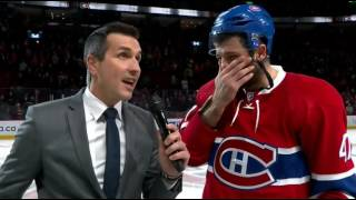 Alex Radulov speaks french - 1st star vs. Flyers 2016-10-24